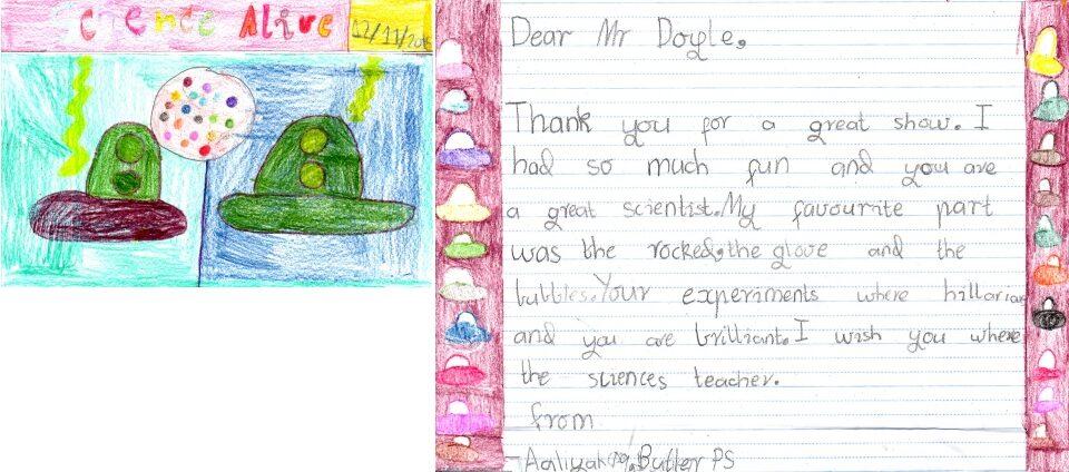 Butler Primary School letter 4